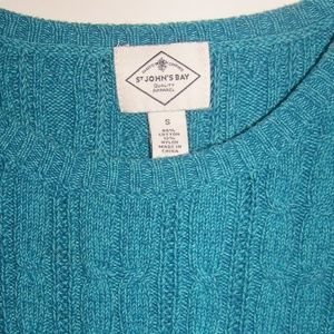 WOMENS TURQUOISE SWEATER SMALL